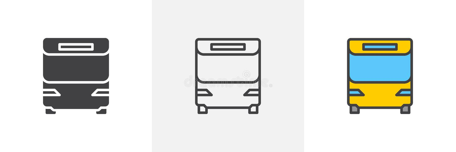 Travel Bus icon royalty free illustration