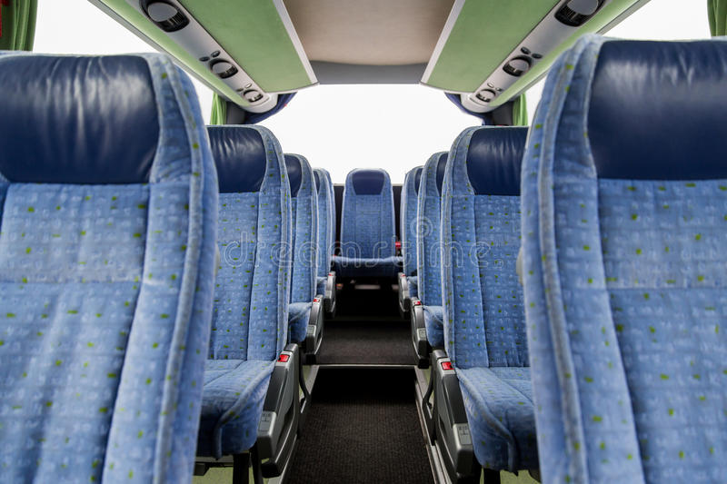 Travel Bus Interior And Seats Stock Photo Image Of Vehicle Road 66926426