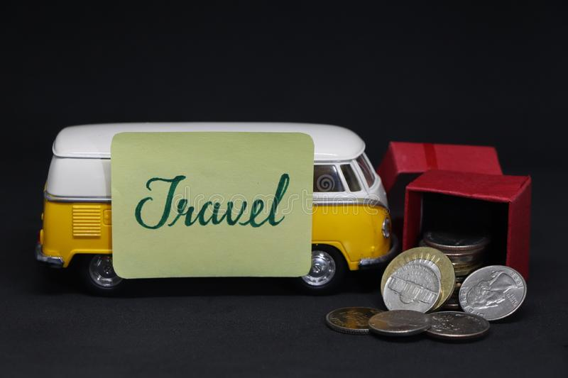 Travel with bus stock photography