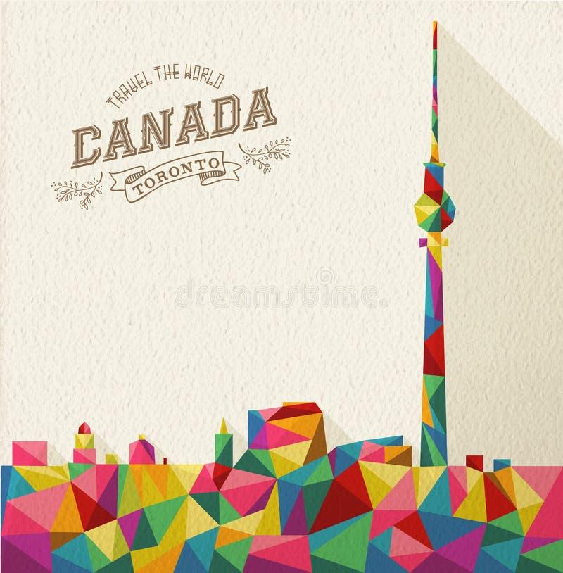 Travel Canada polygonal skyline royalty free illustration