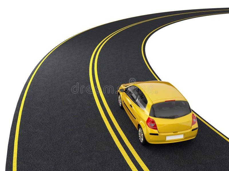 Travel on car vector illustration