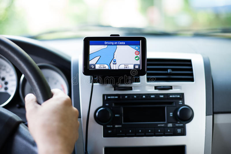 Travel by car with gps royalty free stock image