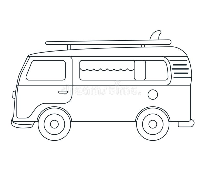 Travel Car Icon. Concept for Outdoor and Hike Trip. Outline Style. Travel Symbol, Logo, Icon and Badge. Simple Vector illustration.  vector illustration