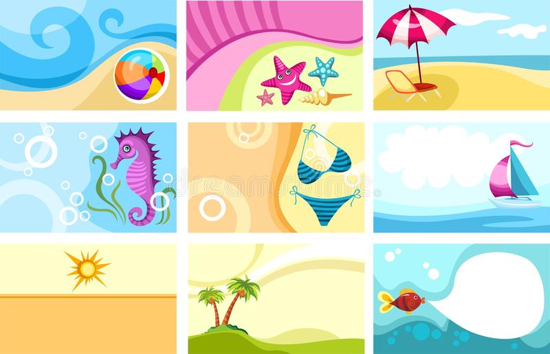 Travel card vector illustration