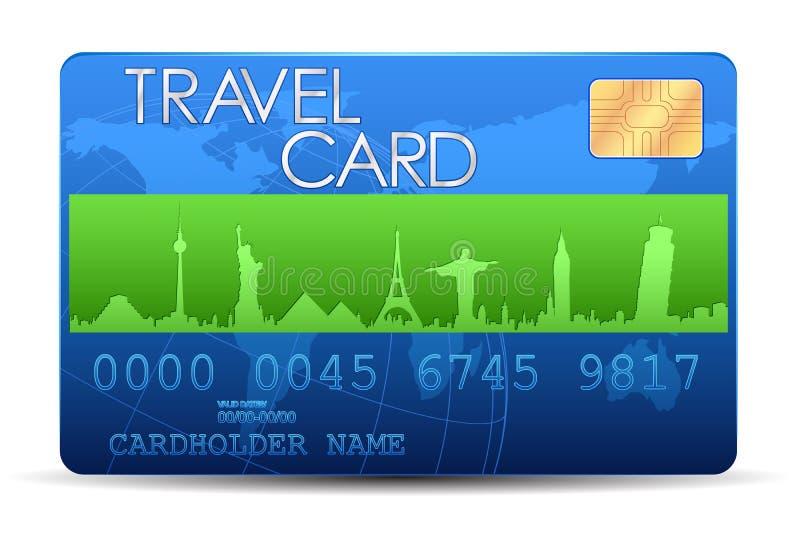 Travel Card royalty free illustration