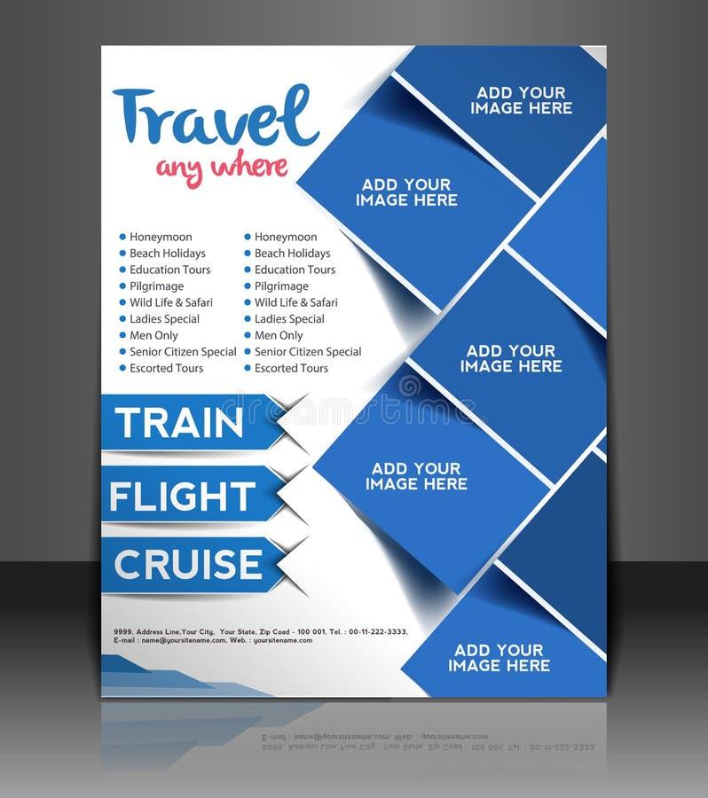 Travel Center Flyer Design stock vector. Illustration of abstract ...
