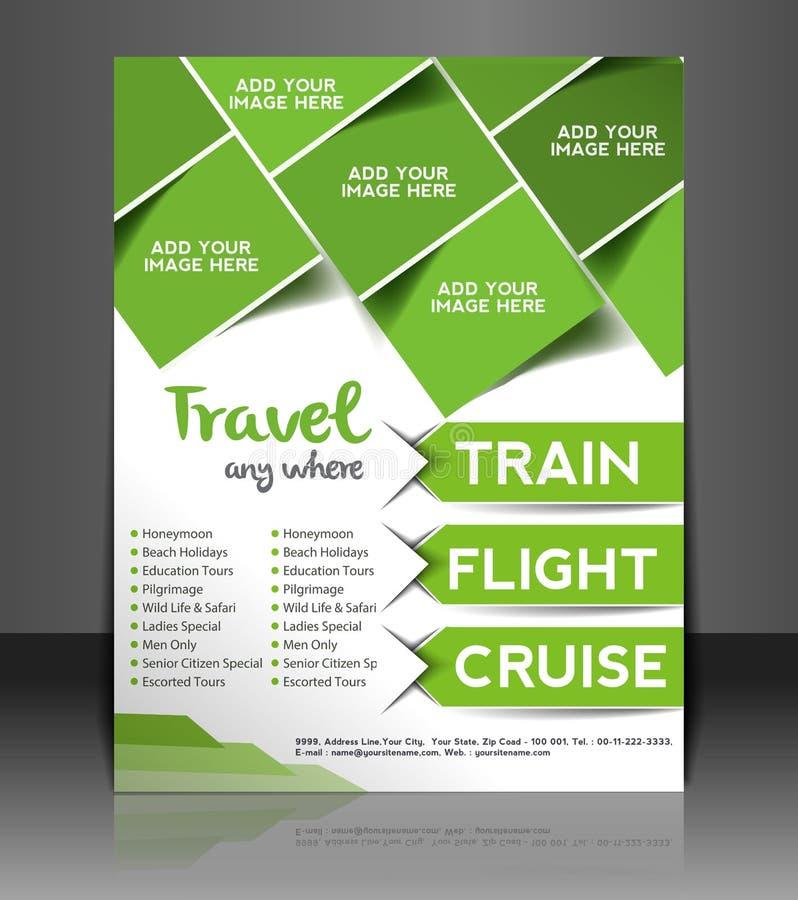 Travel Center Flyer Design stock illustration