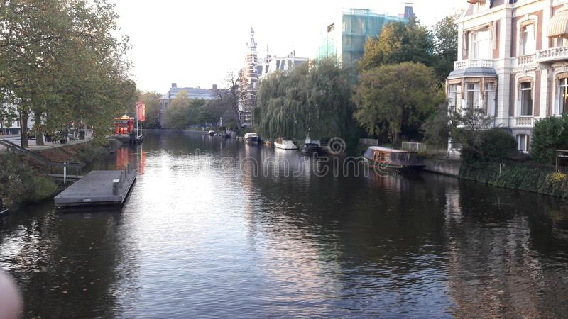 Canal amsterdam travel old city clasico history royalty free stock images