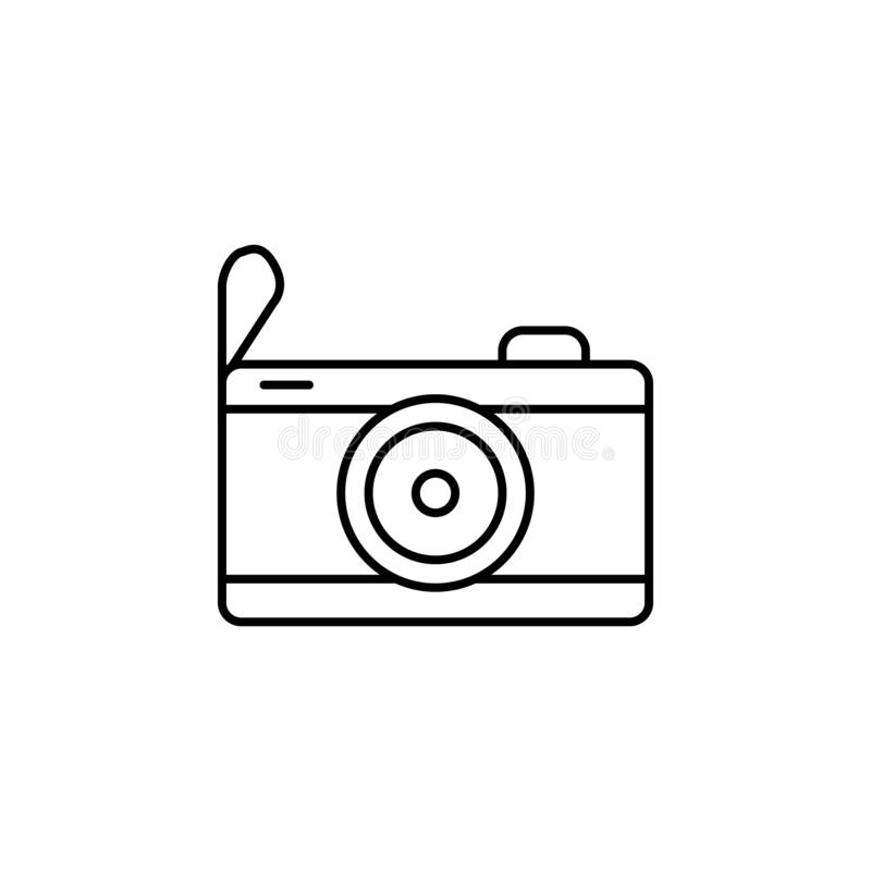 Travel, compass outline icon. Element of travel illustration. Signs and symbols icon can be used for web, logo, mobile app, UI, UX vector illustration