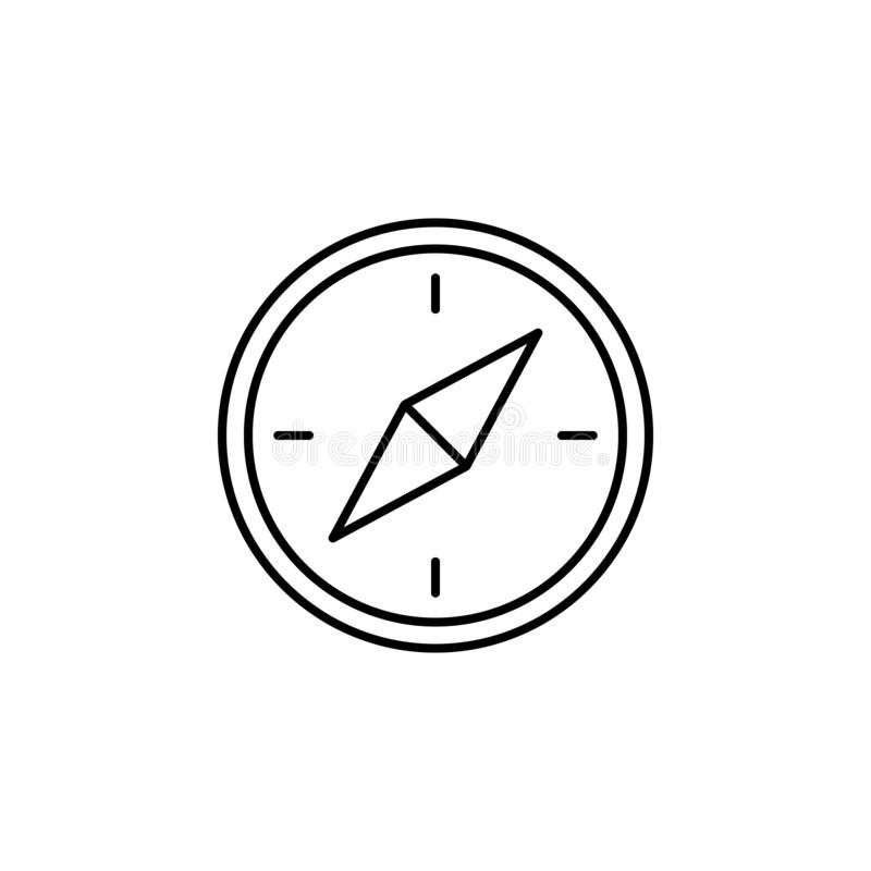 Travel compass outline icon. Elements of travel illustration icon. Signs and symbols can be used for web, logo, mobile app, UI, UX vector illustration