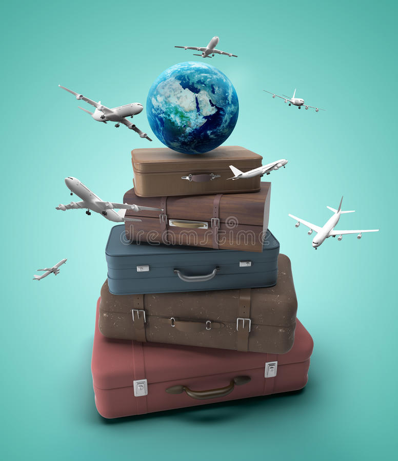 Travel concept royalty free illustration