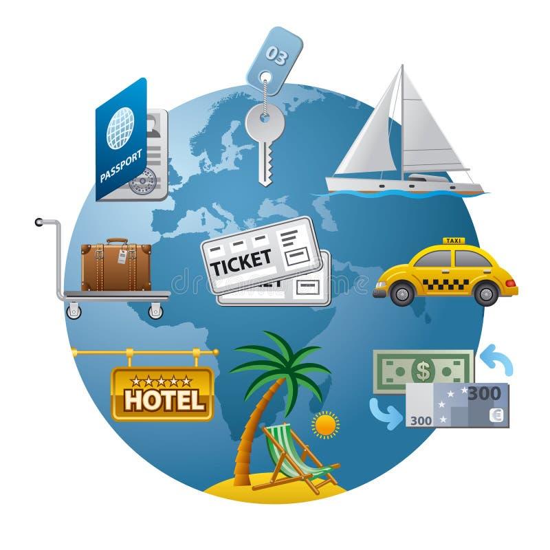 Travel Concept Icon Stock Photos