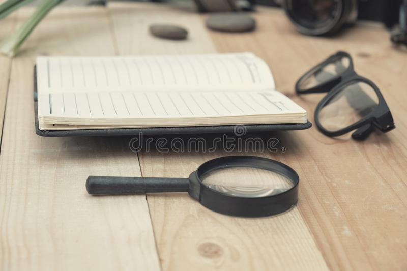 Travel concept with note and grasses stock image