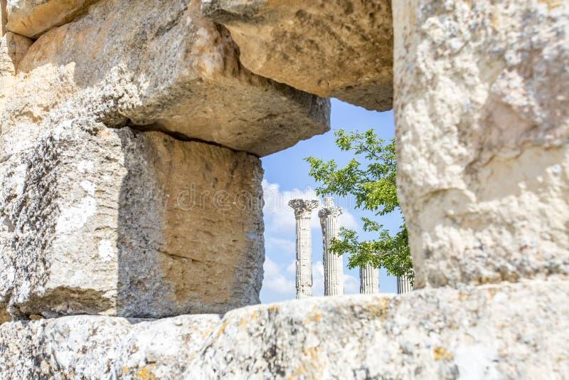 Travel concept photo. Uzuncaburc historical ancient city Mersin / Turkey.  royalty free stock photo