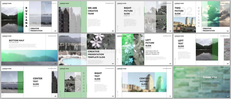 Travel concept presentations design, portfolio vector templates with graphic elements on white. Multipurpose template vector illustration