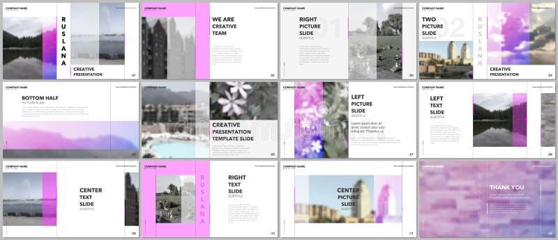 Travel concept presentations design, portfolio vector templates with graphic elements on white. Multipurpose template stock illustration