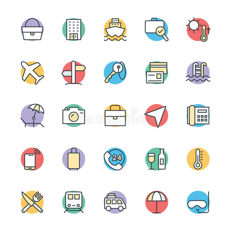 Travel Cool Vector Icons 1 vector illustration