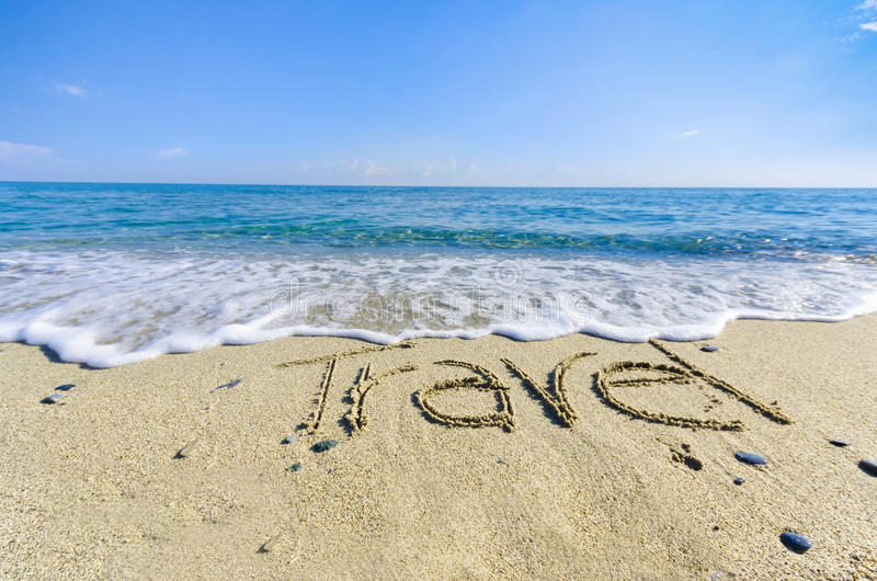 Download TRAVEL, Creative Abstract Graphic Message Stock Image - Image: 42142033