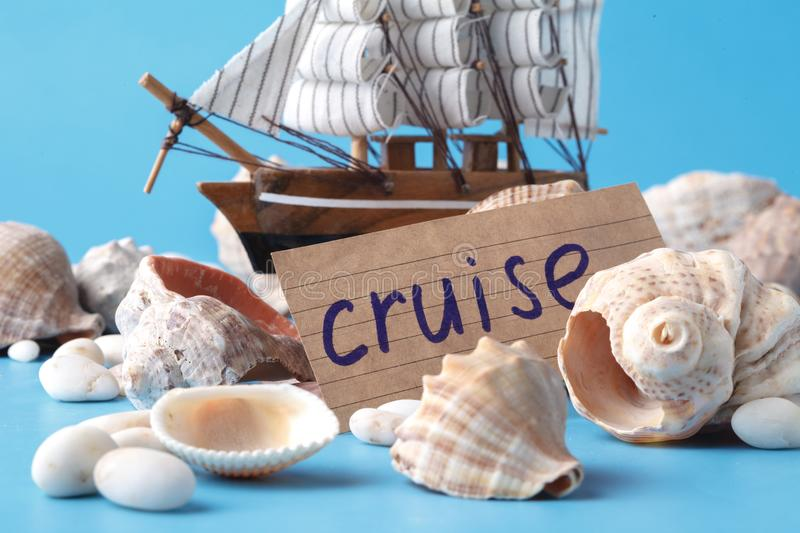 Travel cruise concept, vacation dreams royalty free stock image
