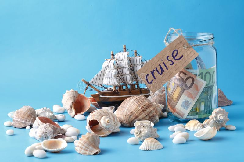 Travel cruise concept, vacation dreams stock image