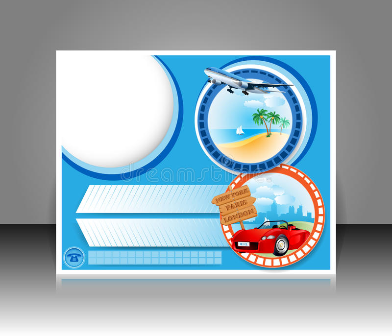Travel design template;Brochure, magazine, page cover, poster vector illustration