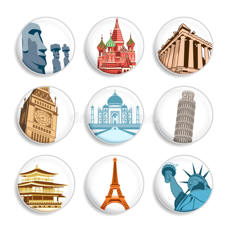 Free Travel Destination Badges | Set 1 Stock Photo - 11124620