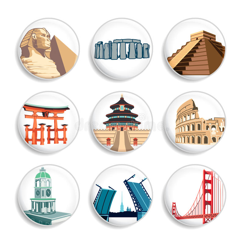 Travel Destination Badges | Set 2 Royalty Free Stock Images