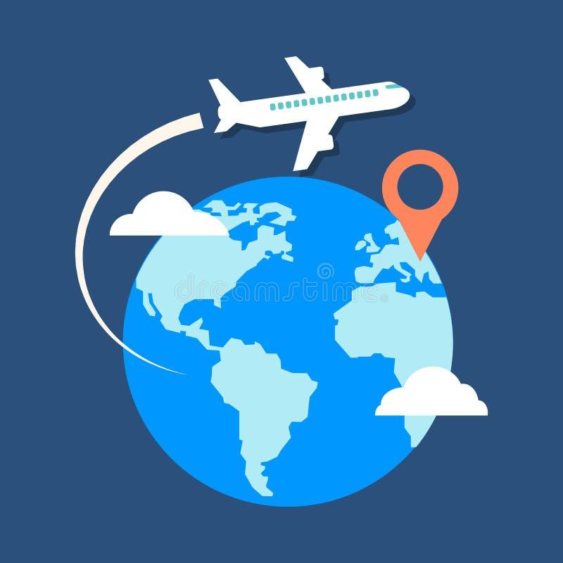 Free Travel, Destination Concept. Flat Design Stylish. Royalty Free Stock Image - 47255326