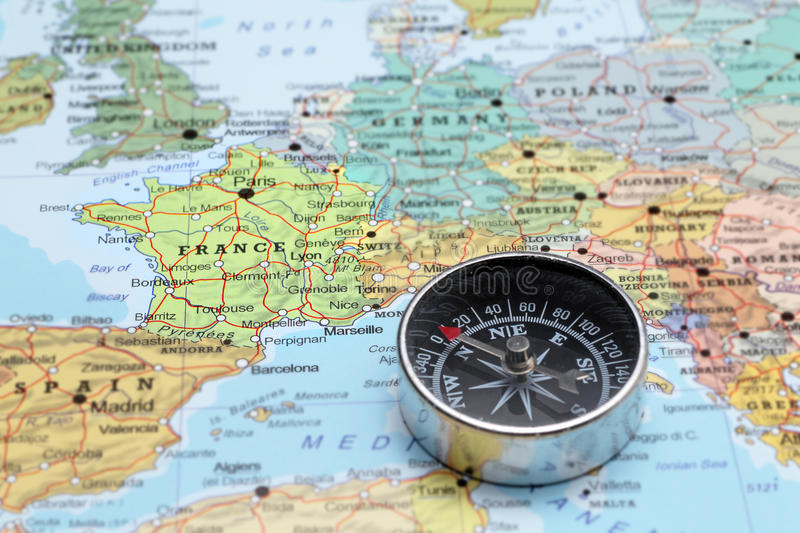 Travel destination france map with compass stock image image of download travel destination france map with compass stock image image of journey exploration gumiabroncs Image collections