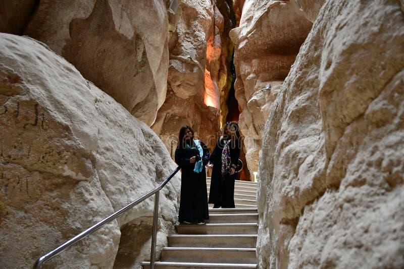 Travel destination in Saudi Arabia the Al Qarah. Tourist attraction the Al Qarah Mountain in the Land of Civilization on Saudi Arabia. Monumental historical royalty free stock images