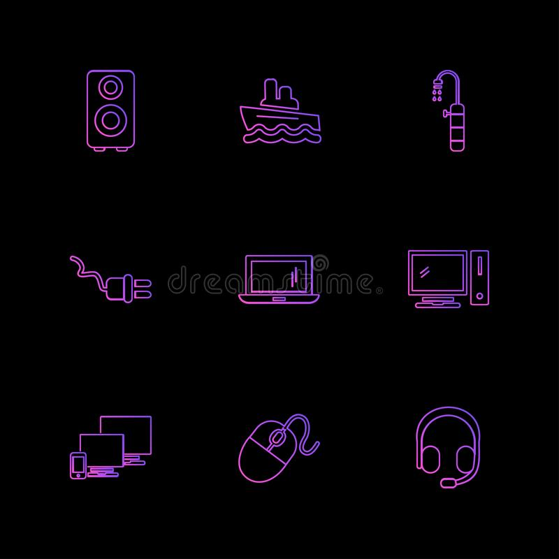 Travel , destination , shopping , reset , calender , eps icons s. Travel , destination , shopping , reset , calender , camera , sports , calcualtor , folders royalty free illustration