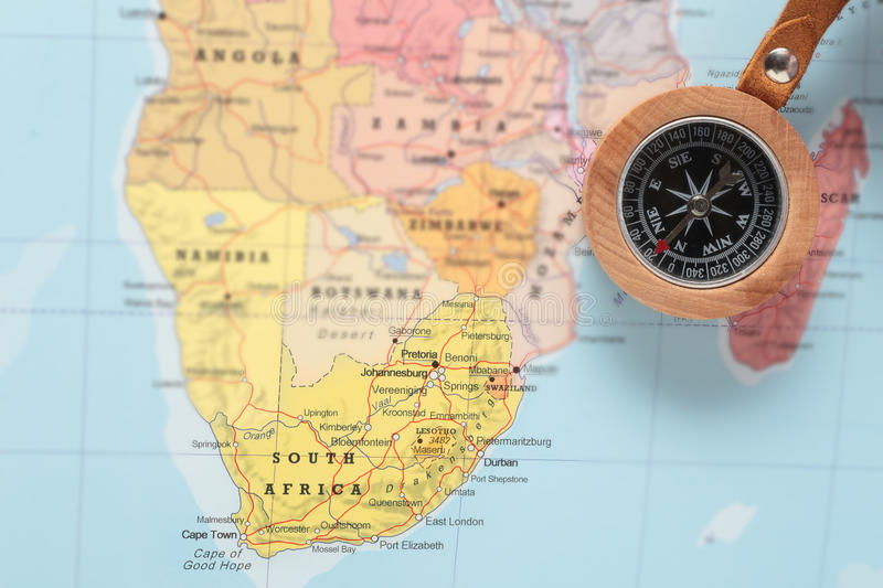 download travel destination south africa map with compass stock photo image of concept