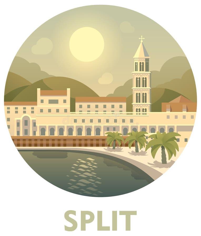 Travel destination Split royalty free illustration