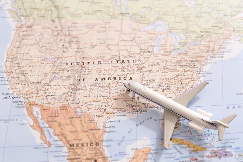 download travel destination usa passenger plane miniature on a map stock photo image of