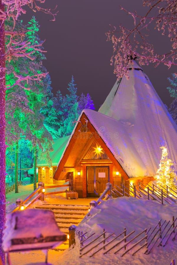 Travel Destinations Concepts. Unique Lapland Suomi Houses stock images