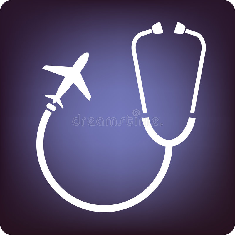 Travel doctor stock illustration