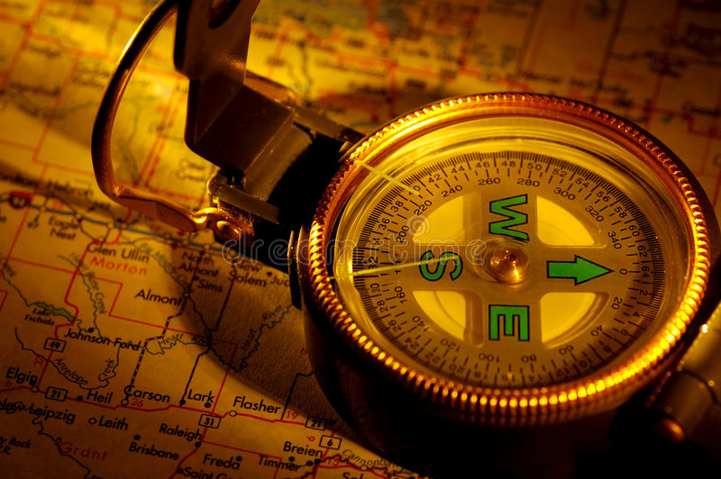 Download Travel at Dusk stock image. Image of compass, west, streetmap - 180705