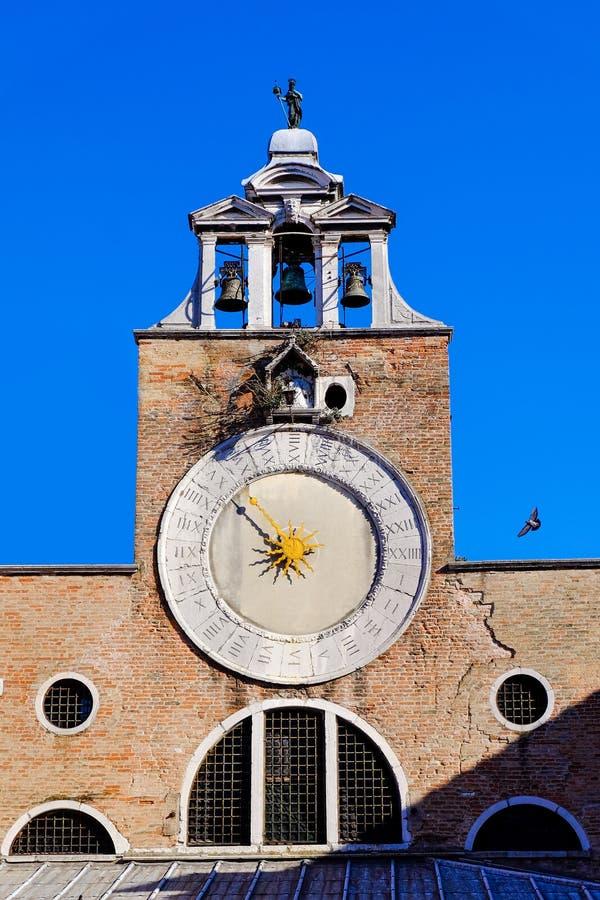 Travel Europe - Venice, Italy. The big clock of the Saint Giacomo of Rialto Church in Venice, Italy royalty free stock photography