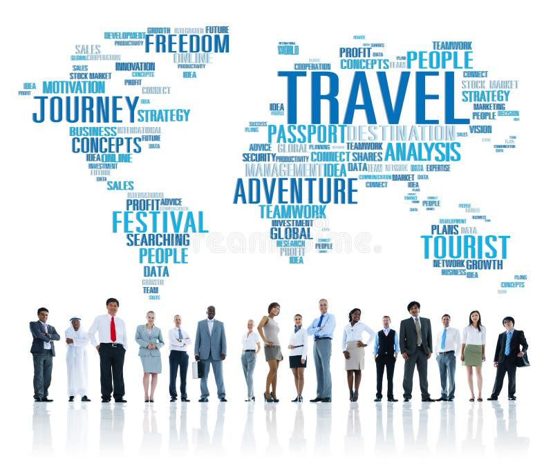 Travel Explore Global Destination Trip Adventure Concept stock photography