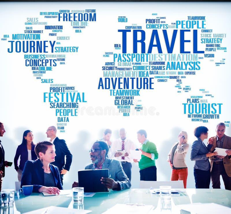 Travel Explore Global Destination Trip Adventure Concept royalty free stock image