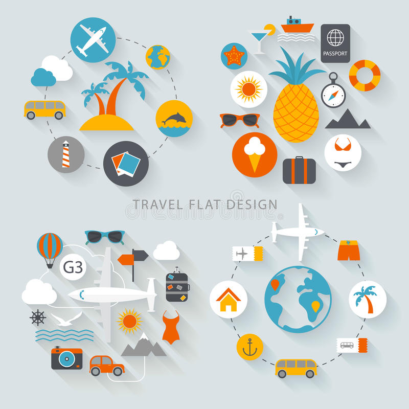 Travel flat design illustration stock illustration