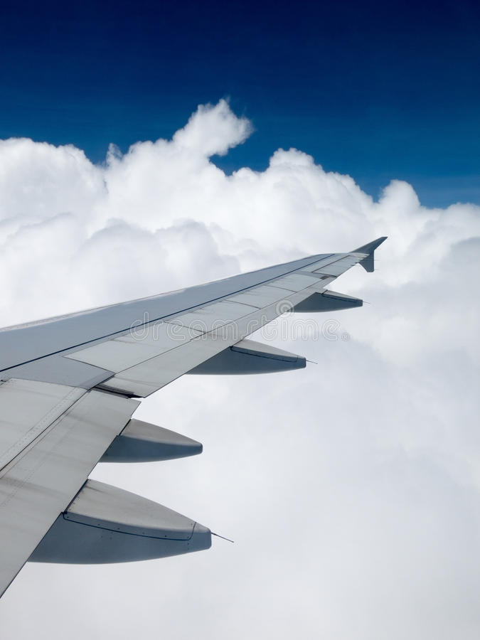 Travel, Flying, Transportation, Sky, Clouds stock photo