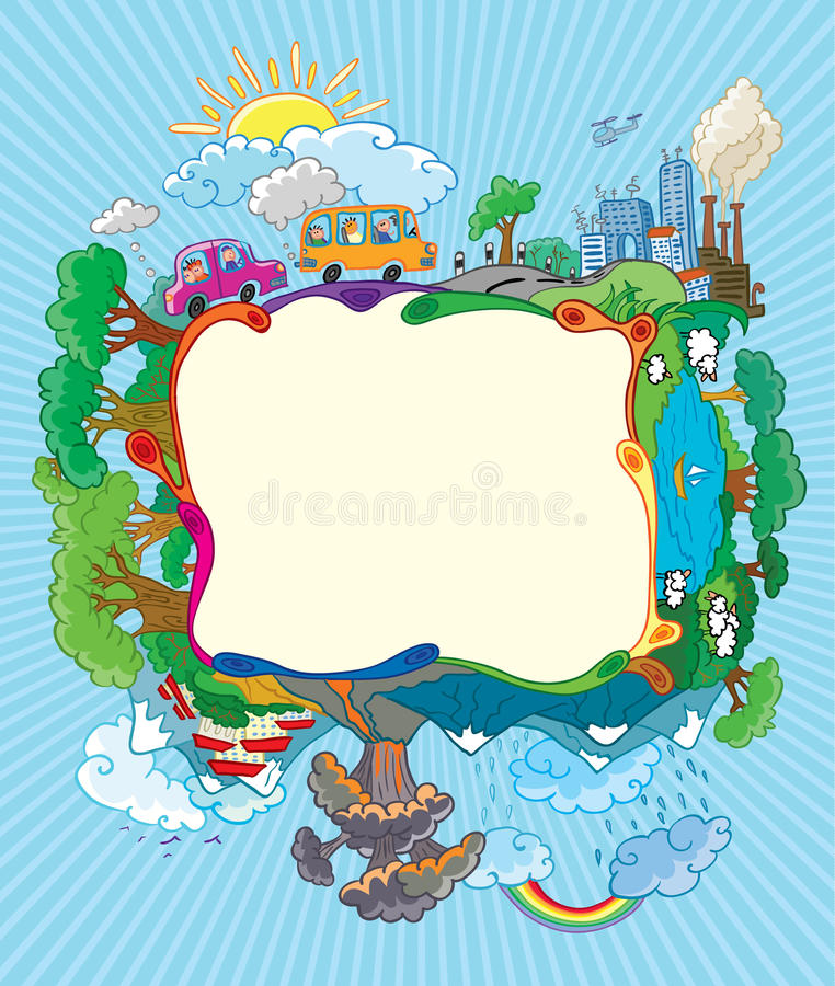 Download Travel frame stock vector. Image of landscape, frame - 14301019