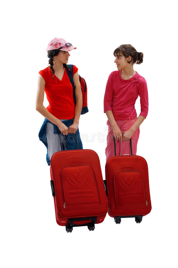 Travel girl stock images