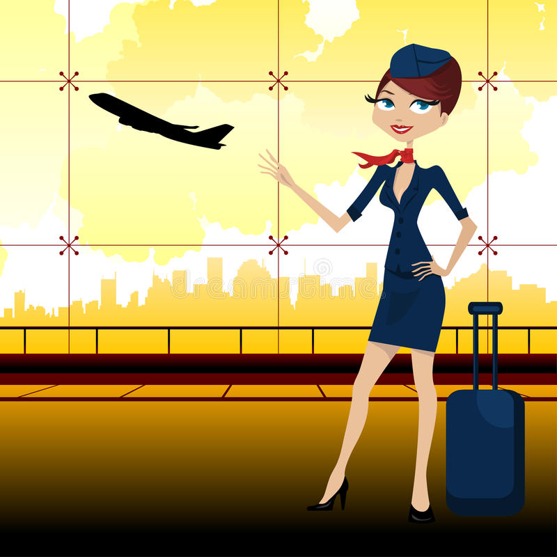 Download Travel guide in airport stock vector. Image of work, waiting - 16842775