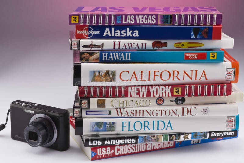 Travel Guides of the USA stock image