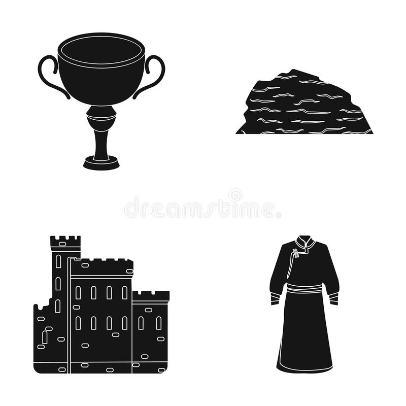 Travel, history and or web icon in black style.sport, mine icons in set collection. royalty free illustration