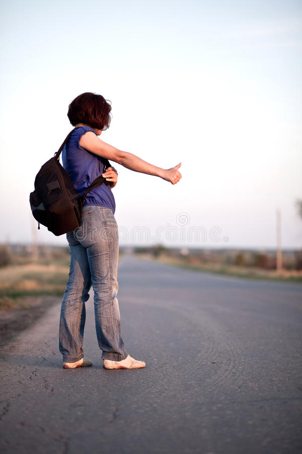 Download Travel by hitchhiking stock photo. Image of travel, road - 9861306