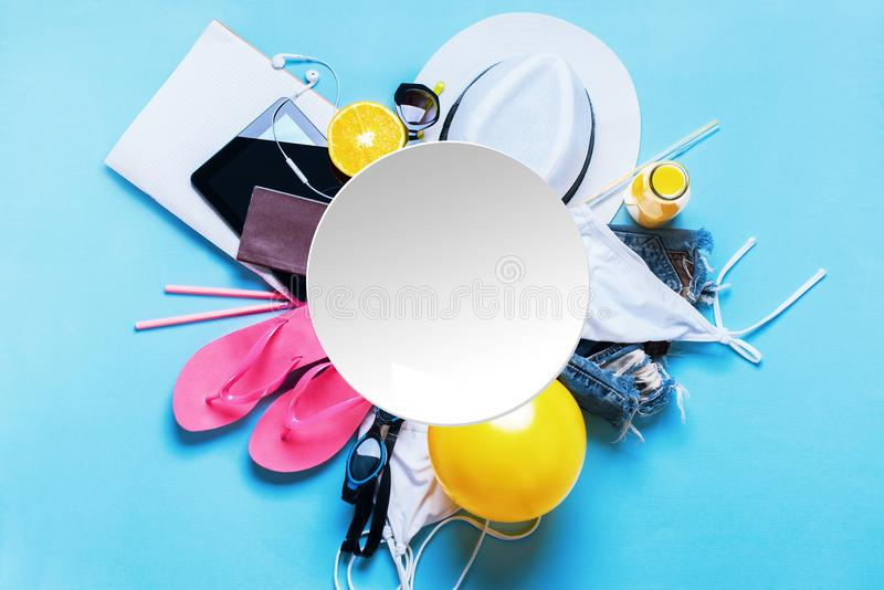 Travel Holiday Concept Different Summer Things royalty free stock photography