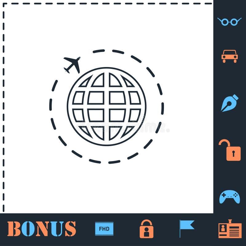 Travel icon flat stock illustration